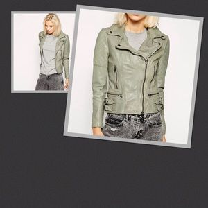 Muubaa Shrunken Leather Womens Jacket, Size 8